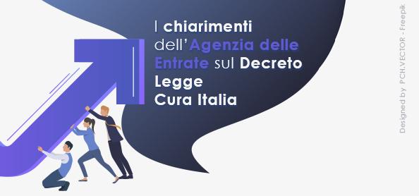 """I chiarimenti dell'Agenzia delle Entrate sul D.L. """"Cura Italia"""""""
